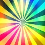 Multicolored rainbow rays...