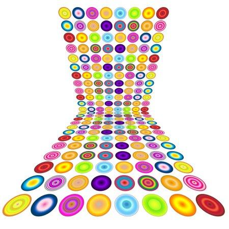 Foto de Un fondo de burbujas coloridas con espacio para texto - Imagen libre de derechos
