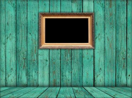 Blank Carved Gilded Frame in Green Room