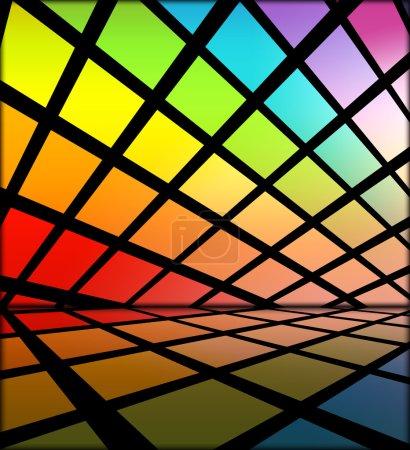 Photo pour Un fond de futurisctic créatives de carreaux multicolores - image libre de droit