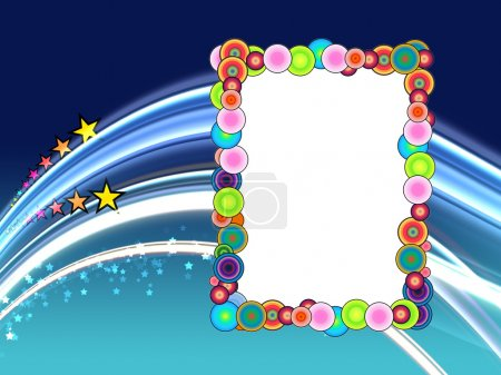 Colorful Frame on Space Background