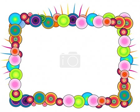 Photo pour Un cadre coloré isolé sur un fond blanc - image libre de droit