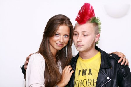 Jeune femme Blonde & punk