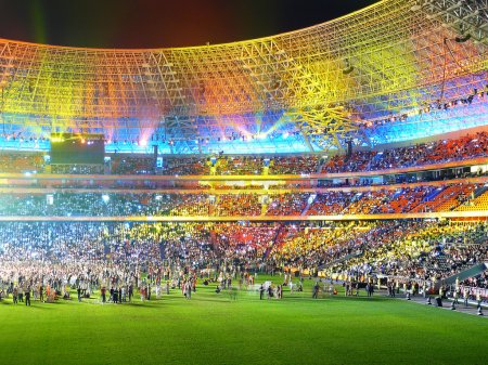 Beautiful multi-coloured arena