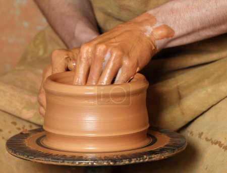 Production of clay pot