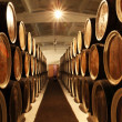 Barrels with the wine alcohol...