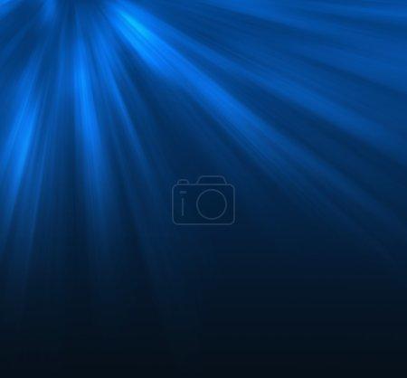 Photo pour Scène sous-marine avec des rayons de lumière - image libre de droit