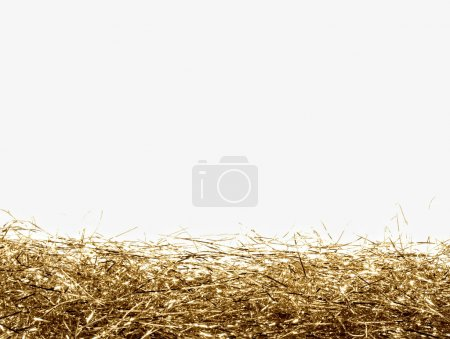 Photo for Gold tinsel frame isolated - Royalty Free Image