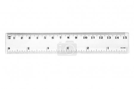 A 15 cm or 6 inch ruler