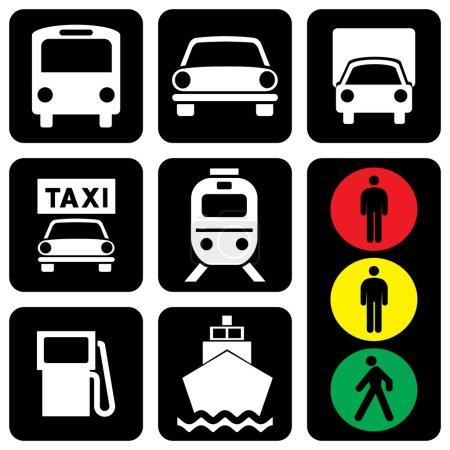 """Photo pour Jeu de vecteur ikonik to transport thème """"Uniquement transport """" - image libre de droit"""