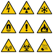 Vector set of warning signs