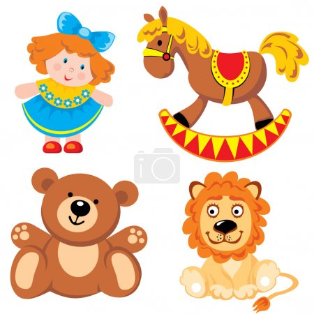 Illustration for Set of vector images. Children's toys - Royalty Free Image