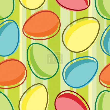 Illustration for Vector striped seamless pattern of easter egg - Royalty Free Image