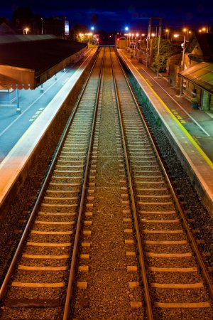 Railway at Athenry train station