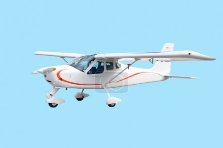 Single engine airplane isolated