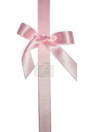 Pink vertical ribbon with bow