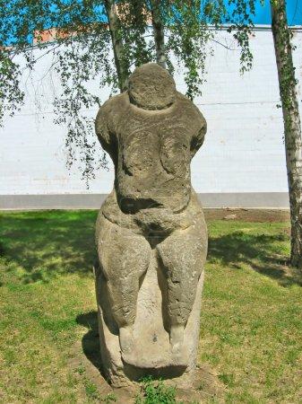 The Stone Woman. Ancient Slavian idol.