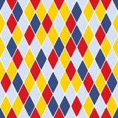 Harlequin parti-coloured pattern