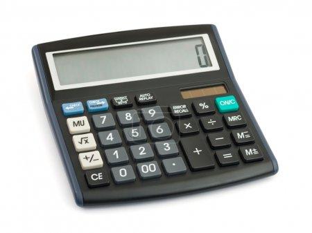 Photo pour Calculatrice d'entreprise isolée sur fond blanc - image libre de droit