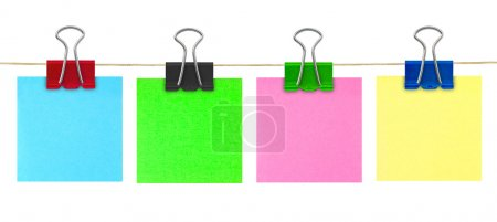 Multicolored post-it note paper