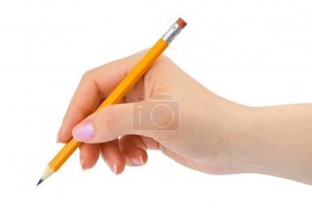 Bleistift in der Hand