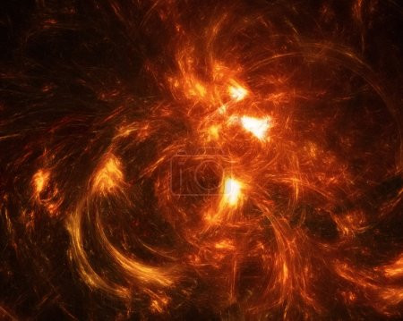 Photo for Fractal fire background. Abstract image of glowing tongues of fire. - Royalty Free Image