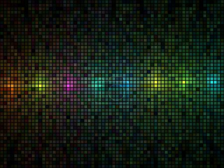 Illustration for Abstract multicolor lights disco tile vector background. - Royalty Free Image