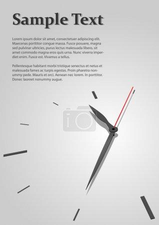 Illustration pour Austère concept de temps arrière-plan vectoriel avec copyspace pour la page de titre . - image libre de droit