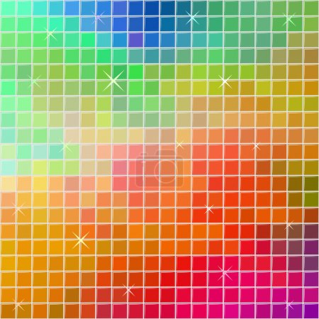 Illustration for Abstract multicolor square tile mosaic festive background. - Royalty Free Image