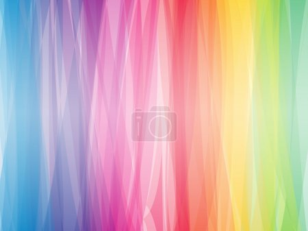 Illustration for Abstract color spectrum horizontal vector background. - Royalty Free Image