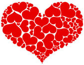 Many hearts in heart form