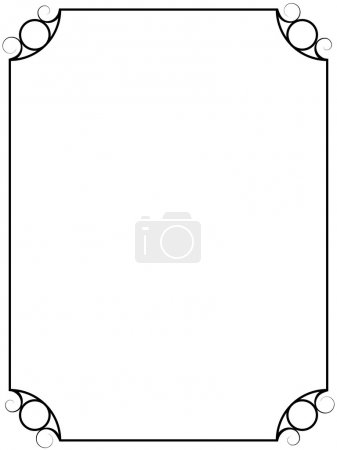Illustration for Simple vintage vector frame isolated on white background. - Royalty Free Image
