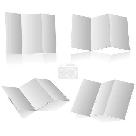 Blank folding booklet