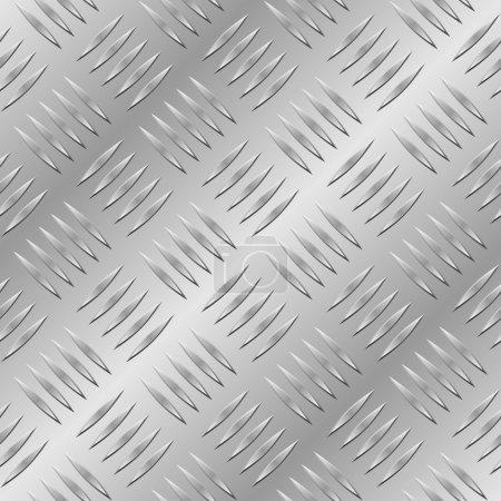 Illustration pour Plaque métallique diamant motif vectoriel sans couture . - image libre de droit