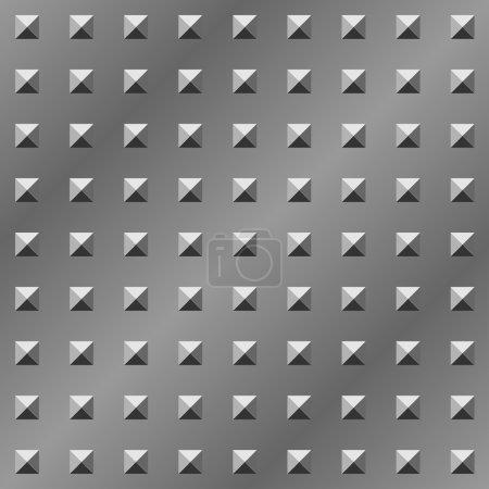Illustration pour Pyramide texturé plaque métallique motif vectoriel sans couture . - image libre de droit