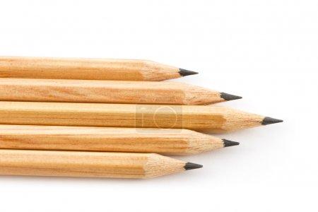 Photo pour Crayons isolés sur blanc - image libre de droit