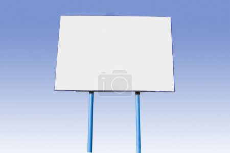 Photo for The big white board of the announcement on a blue gradient - Royalty Free Image