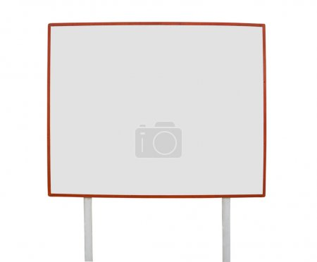 Photo for The big white board of the announcement on a white background - Royalty Free Image