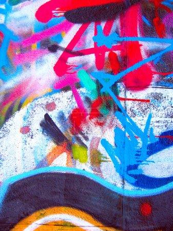 Photo pour Peinture graffiti sur wall.grunge - image libre de droit