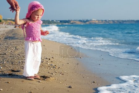 A baby and the sea