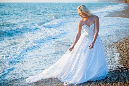 Bride on sea coast