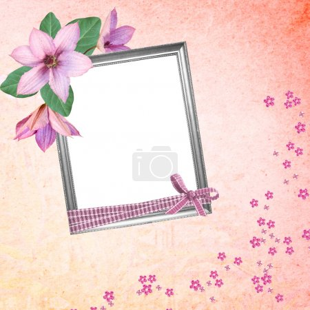 Photo for Red background with frame - Royalty Free Image