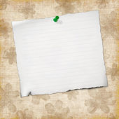 Blank note paper on vintage background