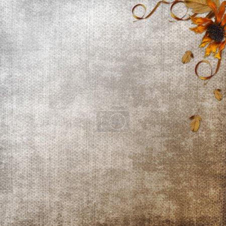 Photo pour Textures et arrière-plans grunge vintage avec fleur - image libre de droit