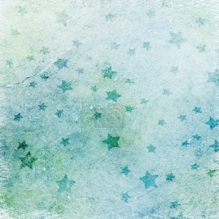 Photo for Abstract blue background with stars - Royalty Free Image
