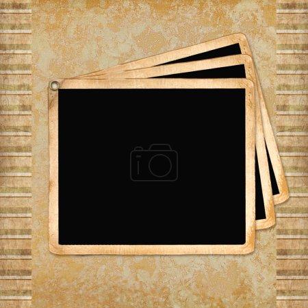 Photo pour Cadre pour les invitations sur le fond vintage. - image libre de droit