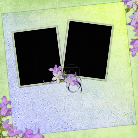 Spring background with frames