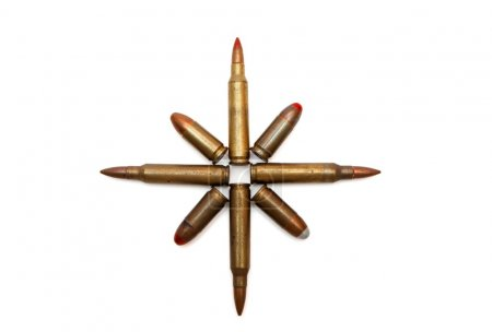 Eight-pointed star of cartridges