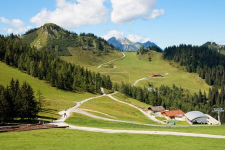 Mountainous alpine landscape in Austria