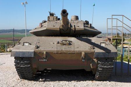 Photo pour Nouveau char israélien Merkava Mark IV au musée du corps blindé de Latrun - image libre de droit